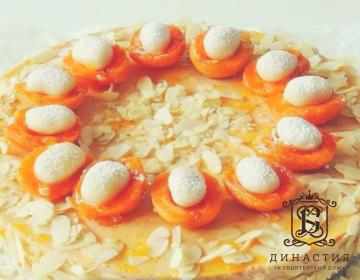 Рецепт абрикосового торта с марципаном