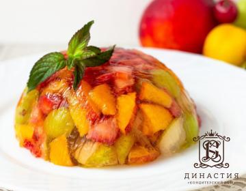 Рецепт торта-желе с шампанским, фруктами и ягодами