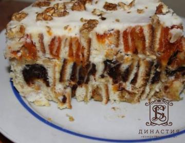 Рецепт торта с сухофруктами