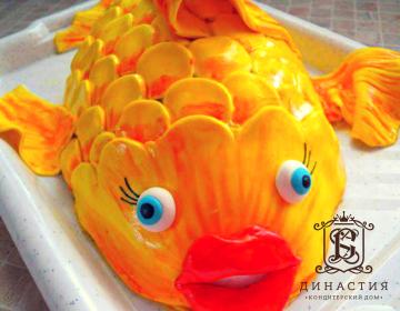 Рецепт торта «Золотая рыбка»
