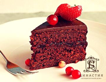 Рецепт шоколадно-клюквенного торта